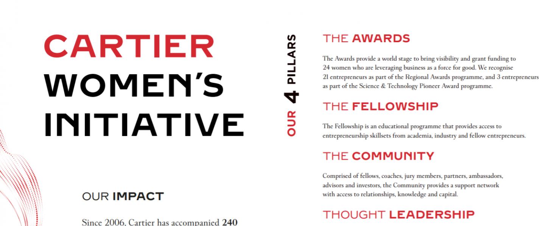 Science & Technology Pioneer Award 2021 (US$ 100,000 grant) - Cartier Women's Initiative