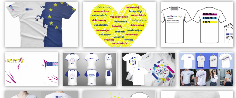 Vote for preffered design - European Solidarity Corps T-Shirt Design Contest