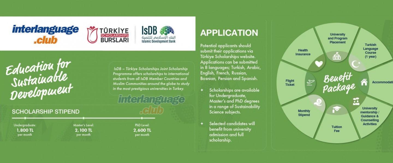 The Islamic Development Bank (IsDB) and Türkiye Scholarships 2021-2022